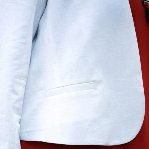 White  cropped full sleeve jacket