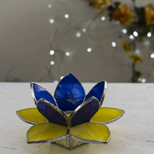 Lotus Tea Light Holder - Yellow
