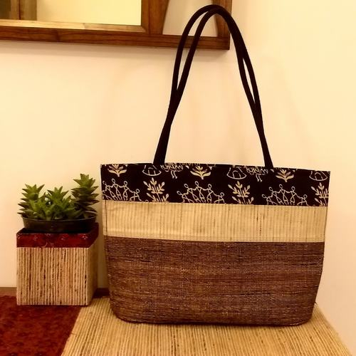 Black Band Banana Fibre Tote