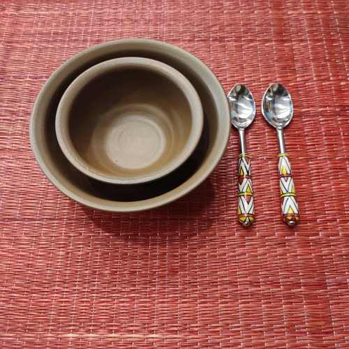 Serving Bowl Set - Brown
