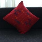 Red Pattu Cushion Cover - Rustic & Contemporary