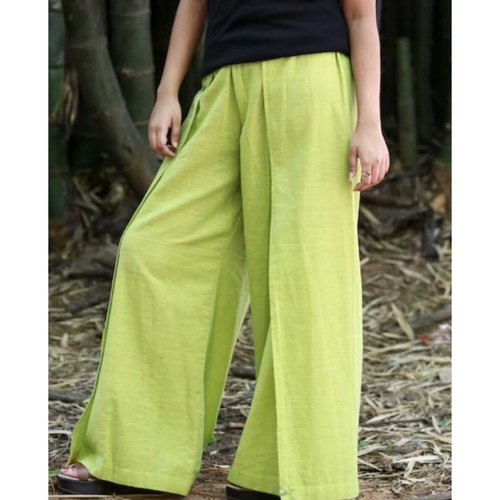 Flared lime green pants