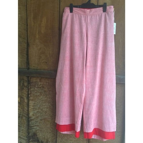 Layered pink and red pants