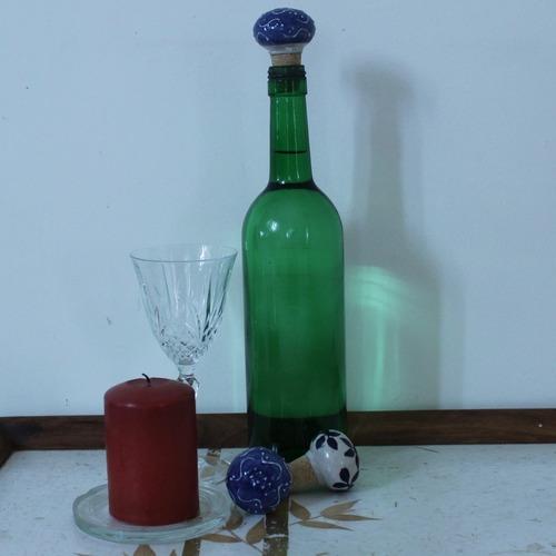 Denim Blue Bottle Stopper