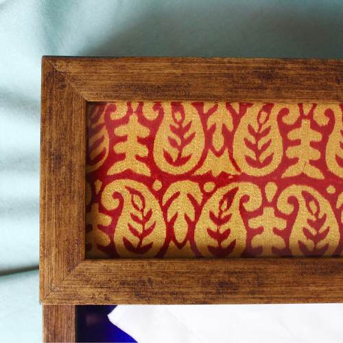 Red and Yellow Napkin Holder