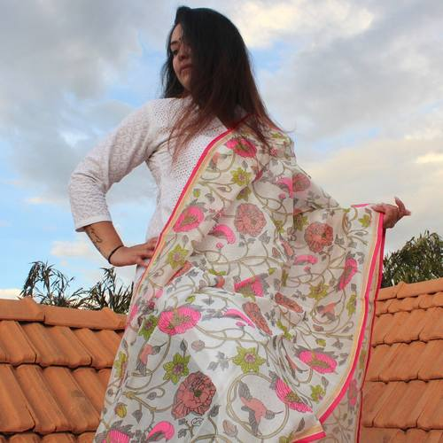 Flower Fever Chanderi Dupatta
