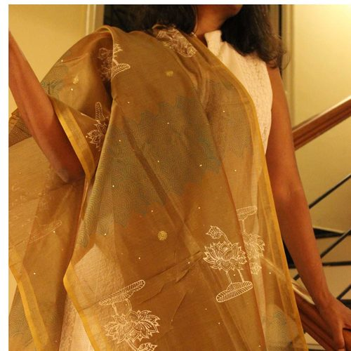 Chanderi Embroidery Dupatta