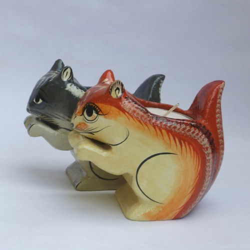Squirrel Tea Light - Orange