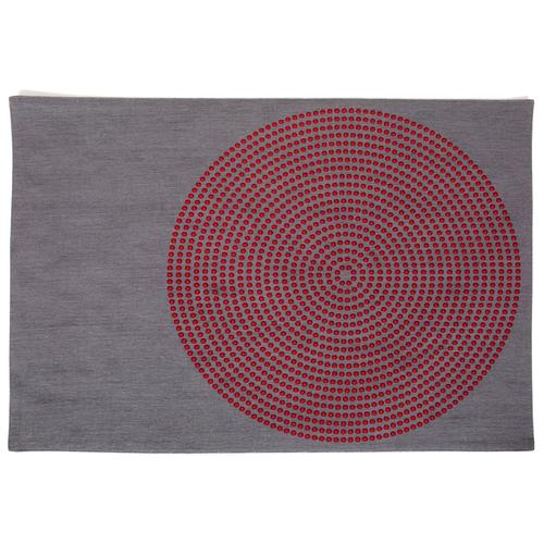 Grey Mats With Red Dots