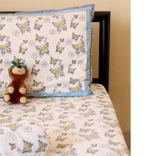 Butterfly Pink Kids Bedsheet Set