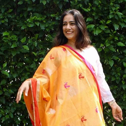 Peacock Orange Dupatta