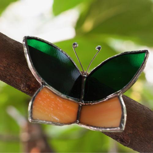 Peach Butterfly Wrap Sun-Catcher
