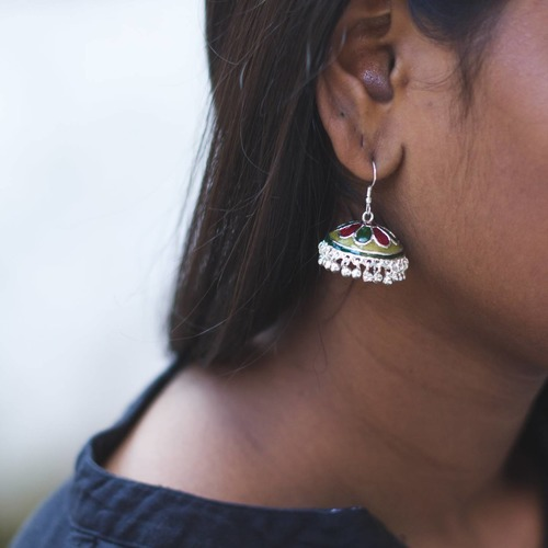 Meenakari Jhumkas Earrings
