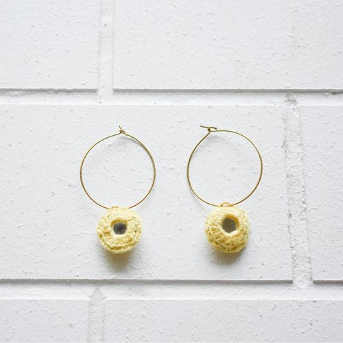 Abhla Circle Earrings - Yellow