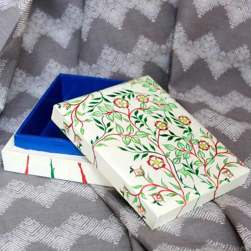 Red Floral Pin Box