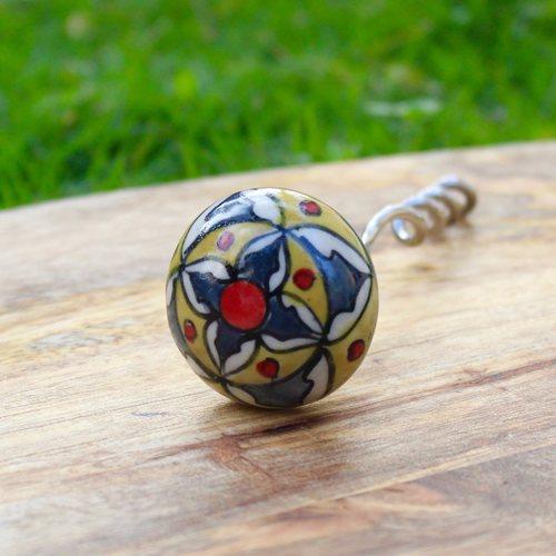 Blue Flower Corkscrew