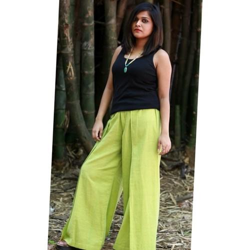 Lime green linen pants