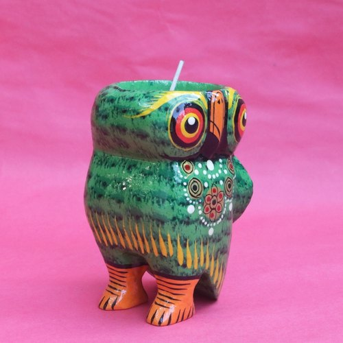 Owl Tea Light - Green