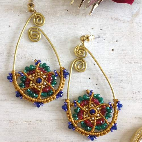 Earrings - Beads and Knots