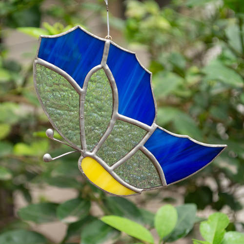 Blue Skies Here I Come Sun Catcher - Butterfly