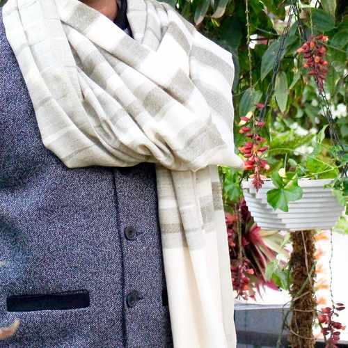 Olive Tones Ikat Pashmina Shawl