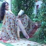 Dupatta Kalamkari - Floral Fantasy