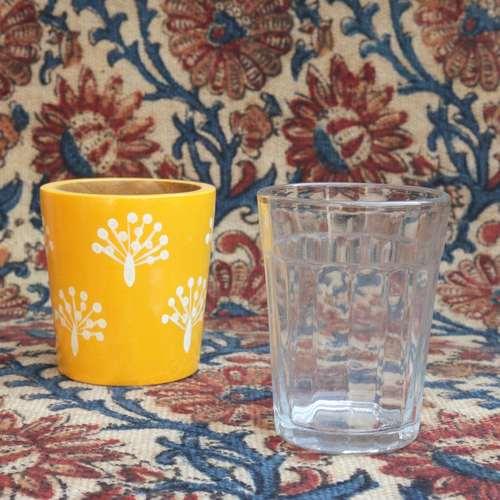 Sunshine Burst Chai Glass