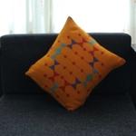 Mustard Fields Pattu Cushion Cover - Rustic & Contemporary