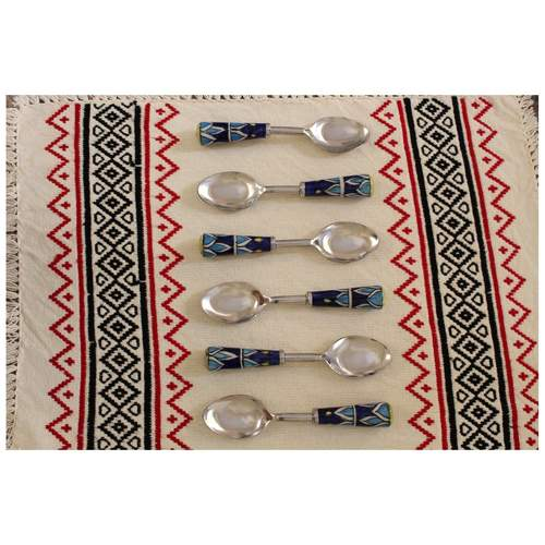Ceramic Cerulean Blue And Navy Spoons