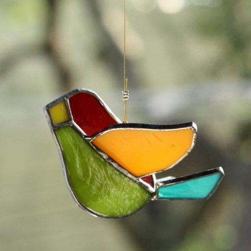 Red+Green Sun-Catcher Birdie