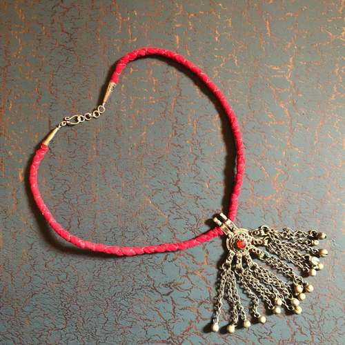 Royal Red Beadwork Necklace