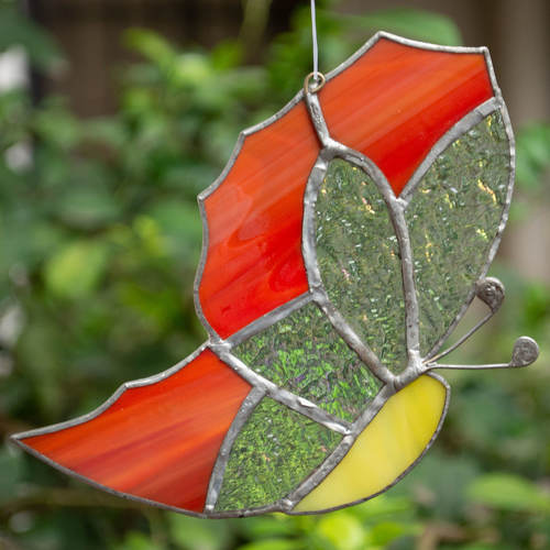 Spot Me In A Flower Sun Catcher - Butterfly