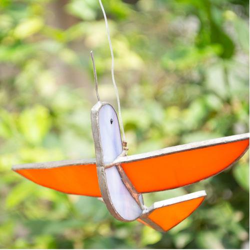 Lavender & Orange Sun Catcher - Humming Bird