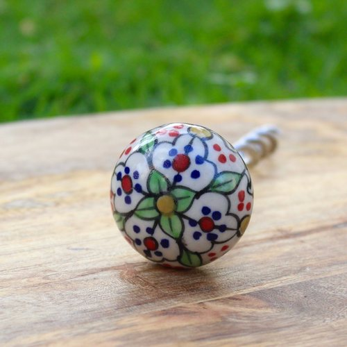 Floral Mint Corkscrew