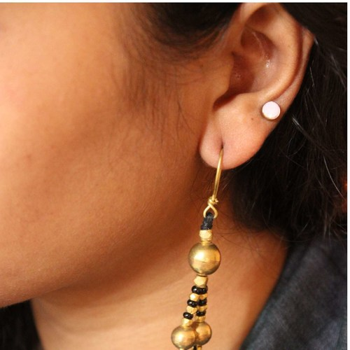Dhokra Jewellery Danglers Black and Gold