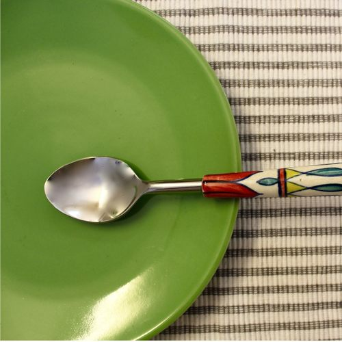 Ceramic Muticoloured Cutlery Spoon Set