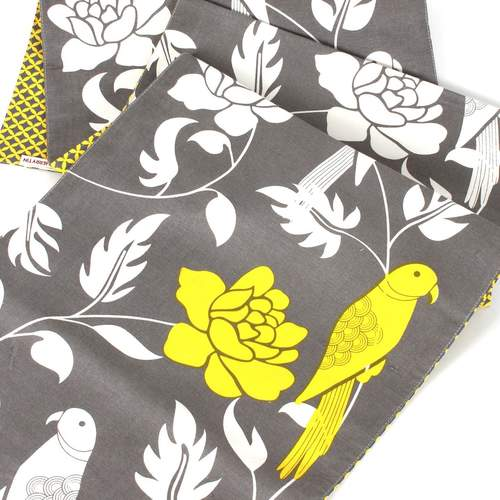 Grey And Yellow Sylvan Reversible Runner