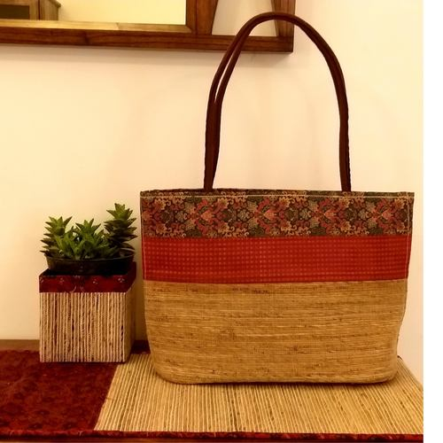 Red Band Banana Fibre Tote