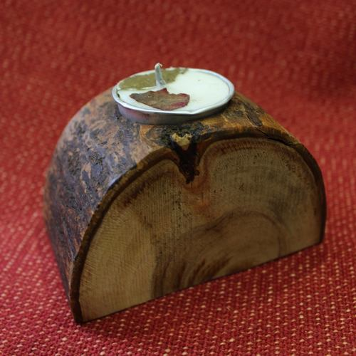 Wooden Tea Light Holder - Single