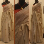 Soft Tussar Half and Half Saree