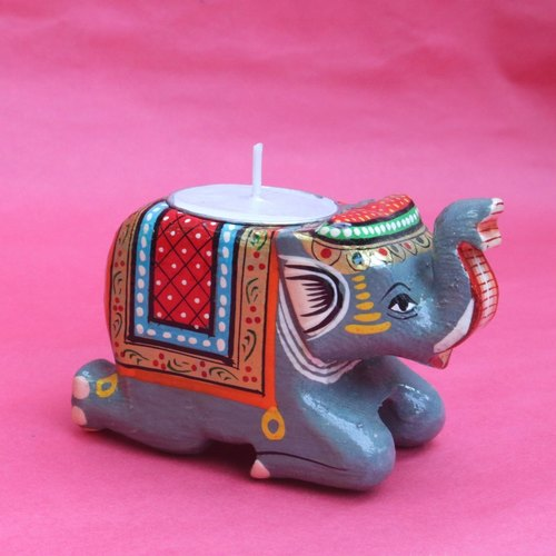 Elephant Tea Light - Grey