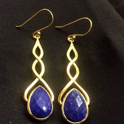 Entwined Lapiz Lazuli Drops