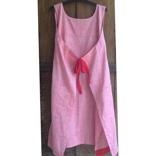 Pink Back Tie Dress