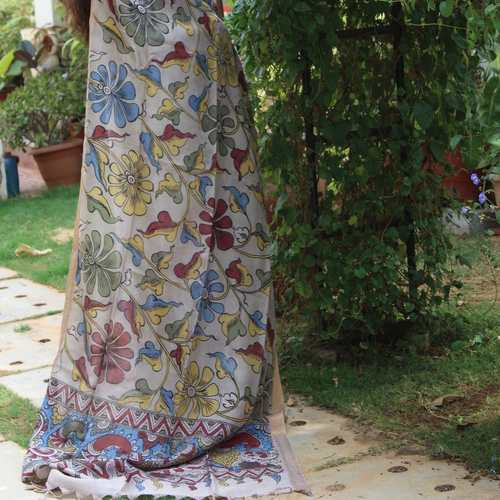 Dupatta Kalamkari - The Bold and The Beautiful