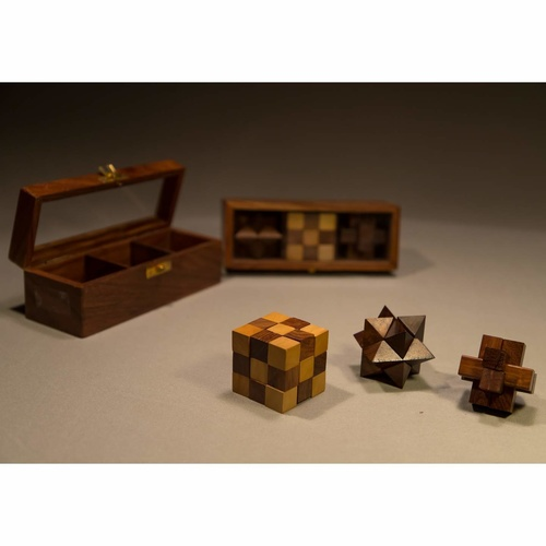 Puzzle Box - Set Of 3