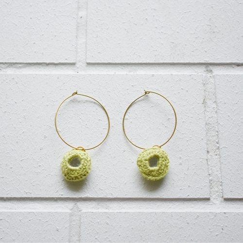 Abhla Circle Earrings - Green