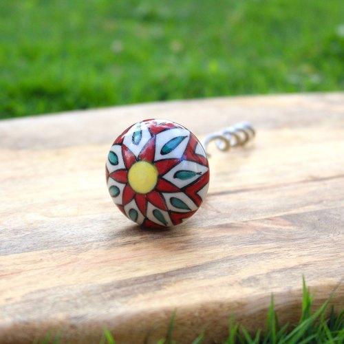 Red Flower Corkscrew