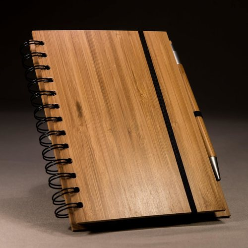 Bamboo Notebook And Pen Set