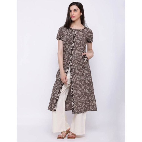 Grey all over print kurta