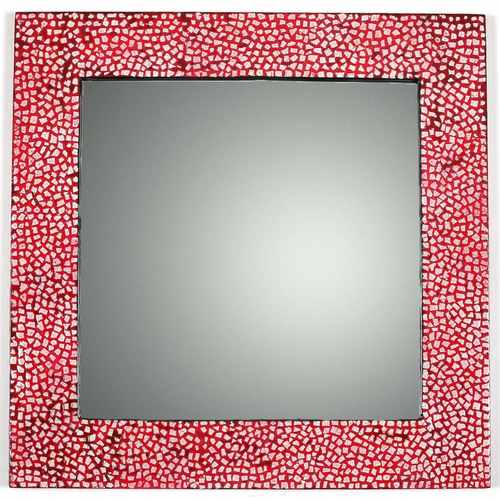 Imperial Red Eggshell Mirror